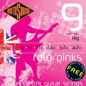 Rotosound R9 Pink 9-42 Electic Guitar Strings