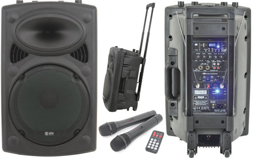 QR12 Active PA Portable Speaker System